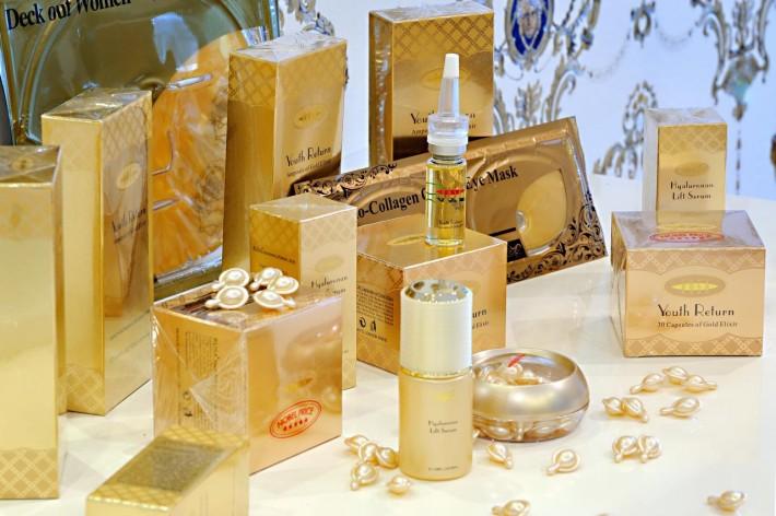 Produse cosmetice cu aur