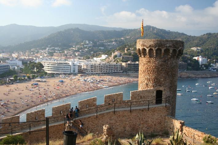 Monumentul Tossa de Mar din Costa Brava, Foto: en.wikipedia.org