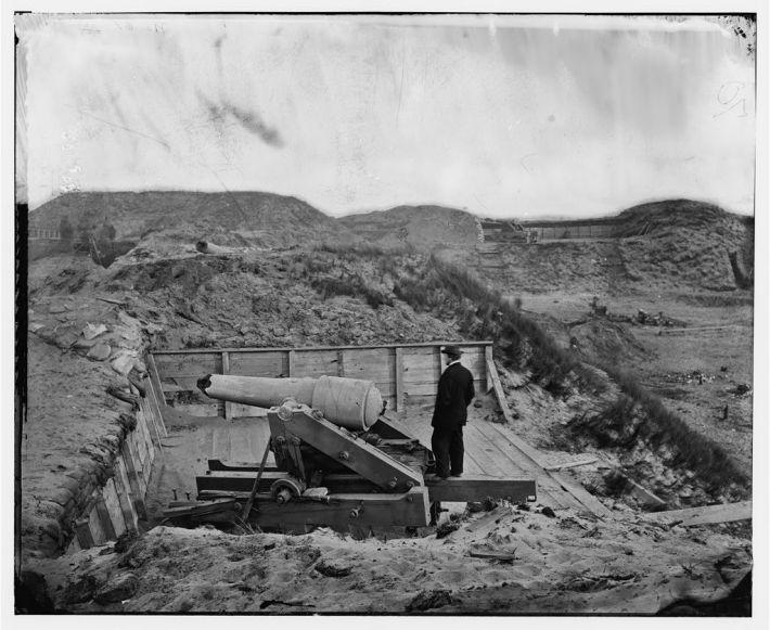 O parte din batalia de la Fort Fisher in 1865, Foto: learnnc.org