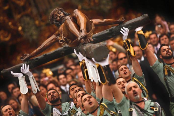 Procesiune din Saptamana Patimilor in Spania, Foto: 04varvara.wordpress.com