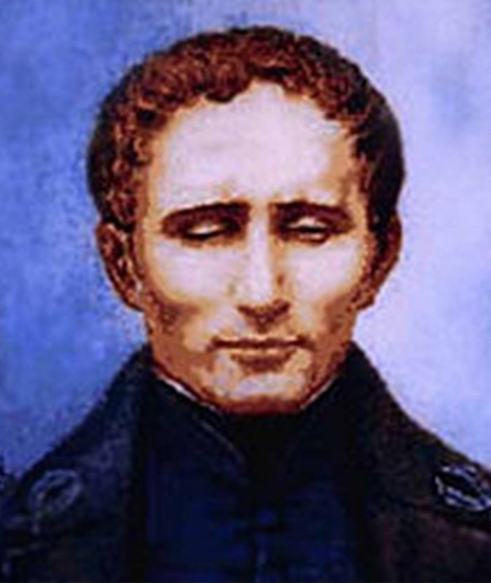 Portretul lui Louis Braille, Foto: hospitalidad.wordpress.com