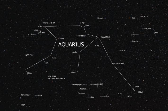 Constelatia Aquarius, Foto: inthelandoftheblindoneeyeisking.wordpress.com