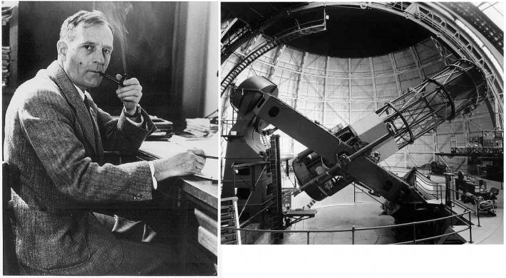 Edwin Hubble si Telescopul Hooker , Foto: meteoklima.wordpress.com