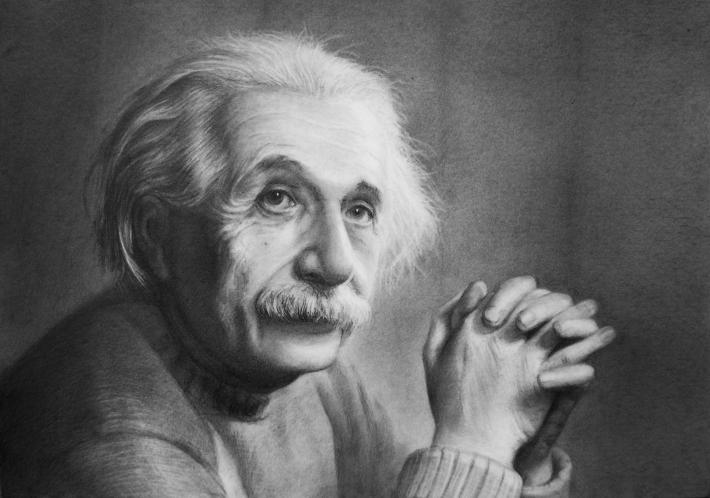 Portretul lui Albert Einstein, Foto: dausonstimpsongagnon.wordpress.com