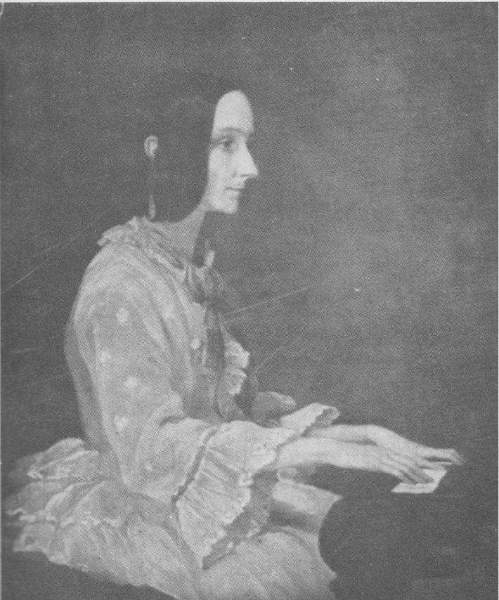 Tablou Ada Lovelace la pian in 1852, pictat de Henry Phillips