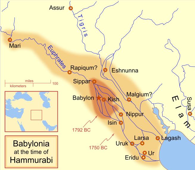 Babilonul in timpul Regelui Hammurabi, Foto: en.wikipedia.org