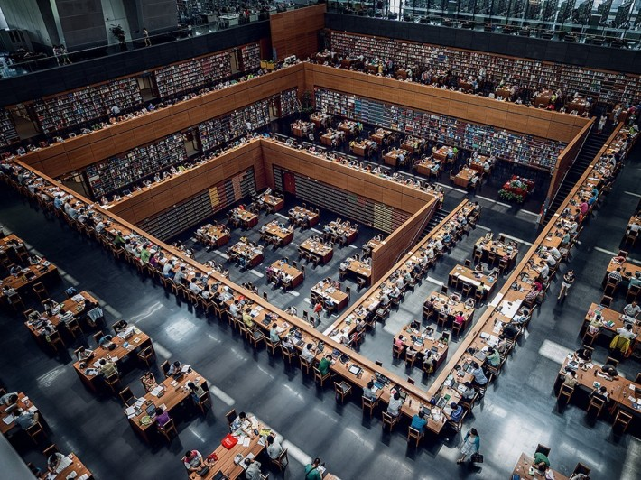 Biblioteca nationala a Chinei, din Pekin, Foto: fcpe.lyceeplcourier.over-blog.com