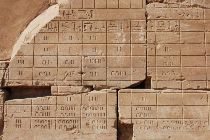 Calendar egiptean pe Templul Karnak, Foto: jamrek-afrika.blogspot.com