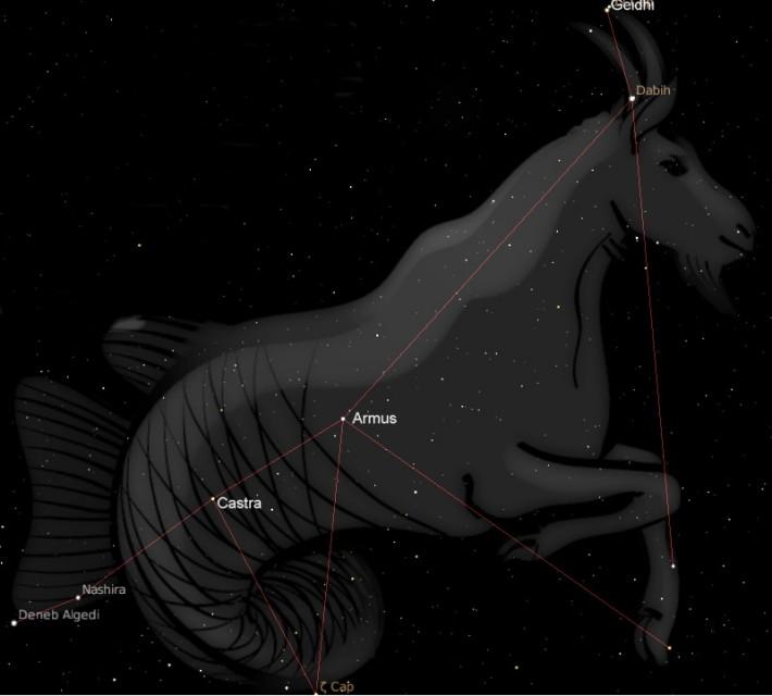 Constelatia Capricornus, Foto: starlightknightastrology.com