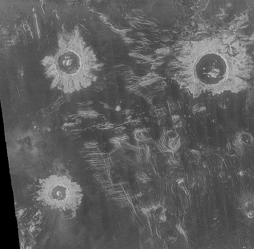 Cratere de impact pe Venus: Danilova, Aglaonice si Saskia, Foto: en.wikipedia.org