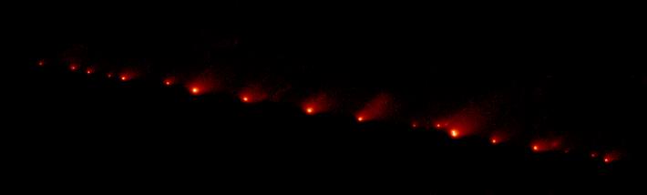 Fragmente ale cometei Shoemaker-Levy 9, Foto: en.wikipedia.org