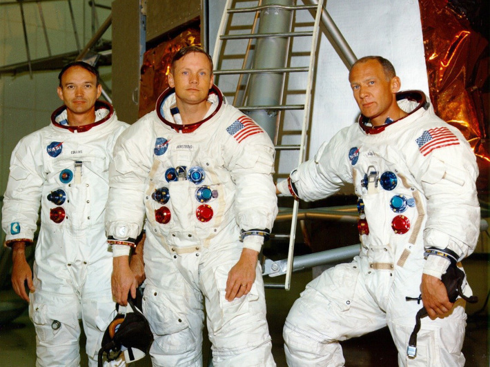 Neil Amstrong Edwind Aldrin si Michael Collins, Foto: comeuptomylighthouse.blogspot.com