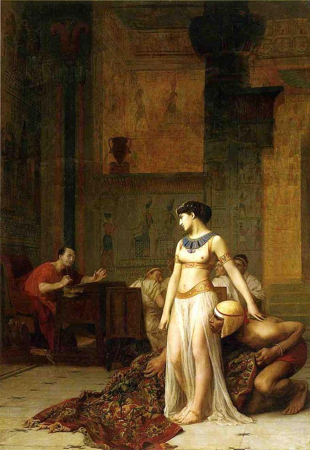 Pictura Cleopatra si Cezar de Jean Leon Gerome, Foto: en.wikipedia.org