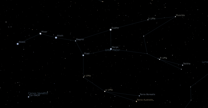 Satelitii din Ursa Major, Foto: oneminuteastronomer.com