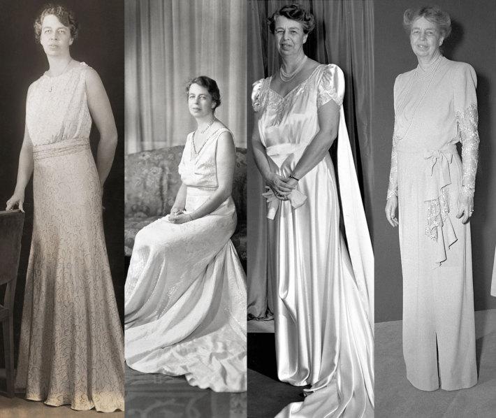 Vestimentatia doamnei Roosevelt pentru diferite evenimente, Foto: theyearofhalloween.com