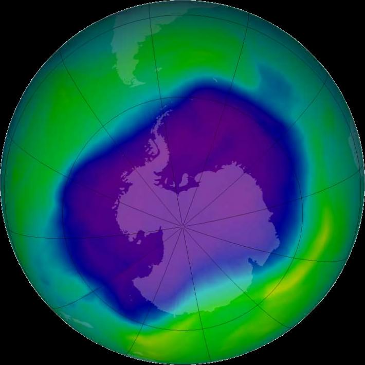 Cea mai mare gaura in stratul de ozon inregistrata in 2006 in Antarctica, Foto: en.wikipedia.org