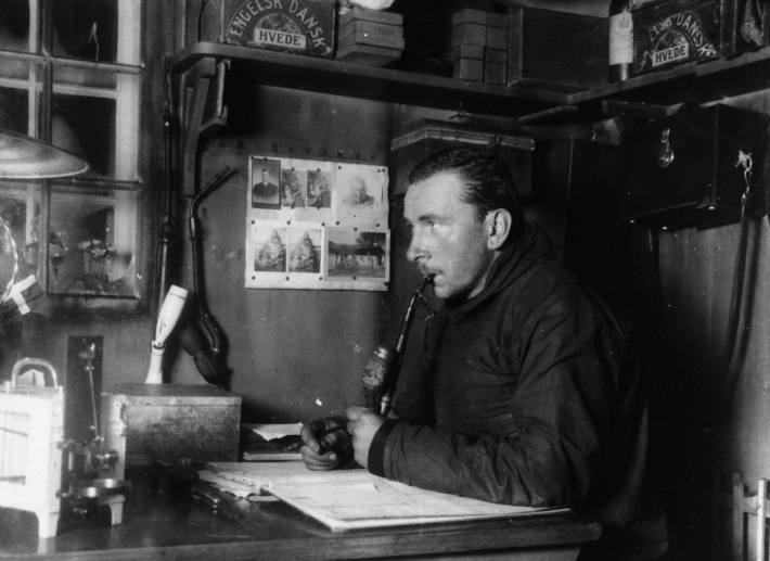 Alfred Wegener in timpul expeditiei J.P. Koch din 1912-1913, Foto: en.wikipedia.org