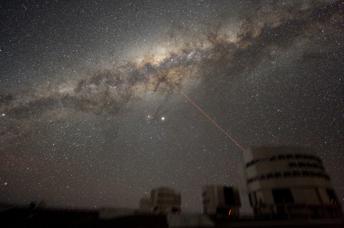 Calea Lactee observata noaptea deasupra Obseravtoriului din Paranal, Foto: en.wikipedia.org