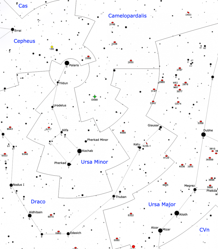 Cele mai importante stele din constelatia Ursa Minor, Foto: commons.wikimedia.org