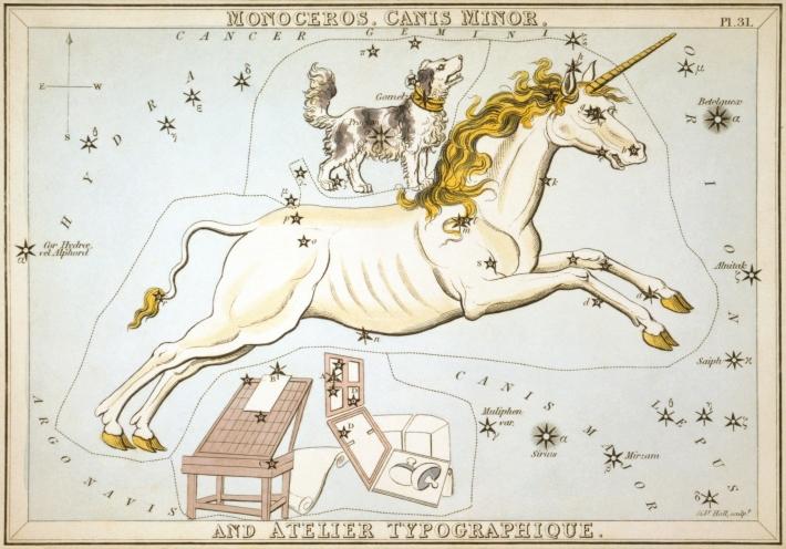 Constelatia Monoceros si o parte din constelatiile care o invecineaza, Foto: en.wikipedia.org