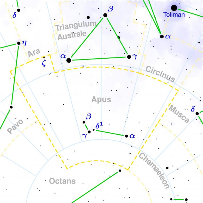 Harta Constelatiei Apus, Foto: commons.wikimedia.org