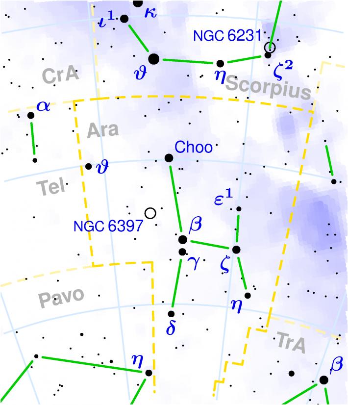 Harta Constelatiei Ara, Foto: en.wikipedia.org