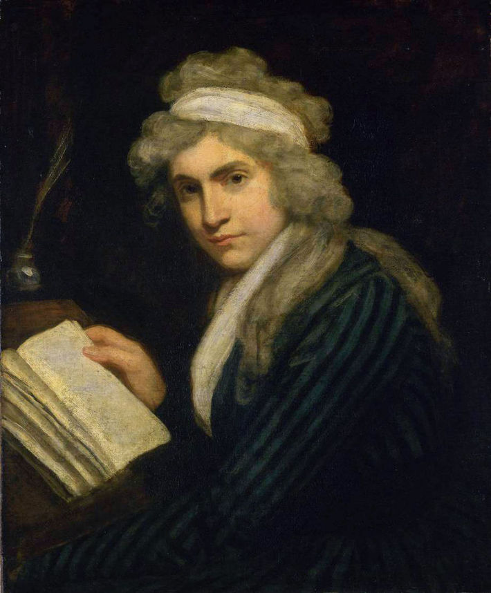 Mary Wollstonecraft in 1790-1791 tablou de  John Opie, Foto: en.wikipedia.org