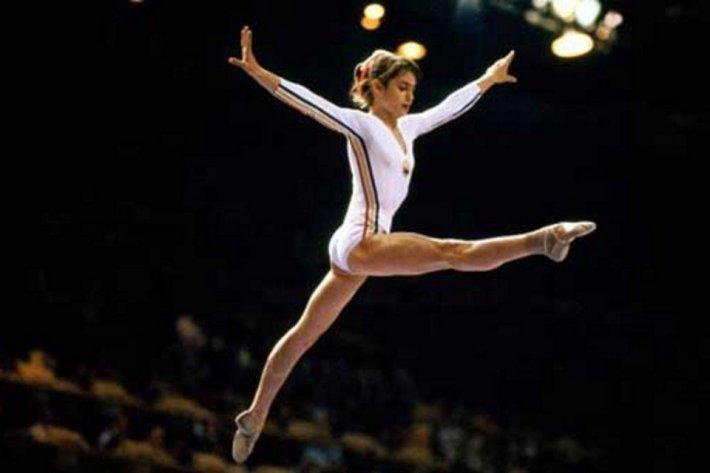 Nadia Comaneci la Olimpiada de la Montreal, Foto:historiasportblog.wordpress.com