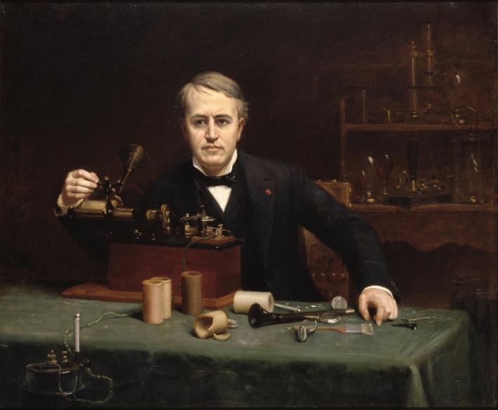 Portretul lui Thomas Alva Edison de Abraham Archibald Anderson, Foto: en.wikipedia.org