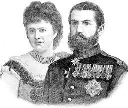 Regina Elisabeta si Regele Carol I gravura din 1881, Foto: ro.wikipedia.org