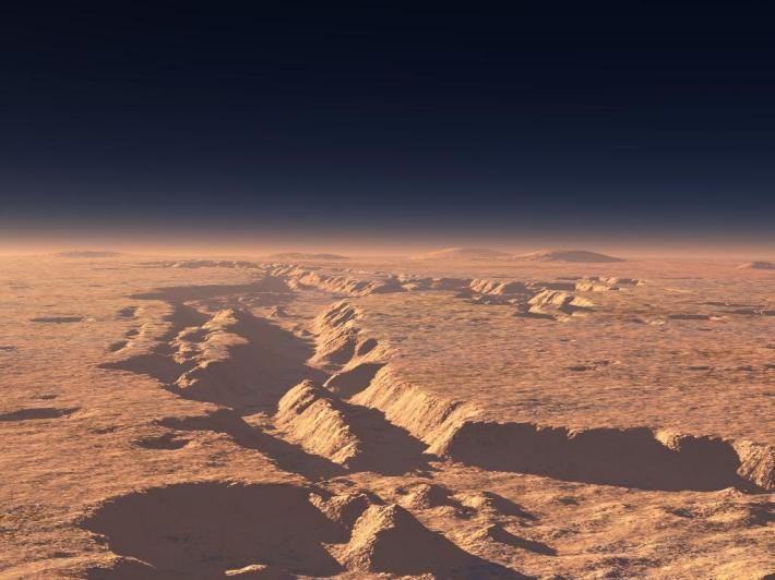 Sistemul vast de canioane Valles Marineris, Foto: noelpecout.blog.lemonde.fr