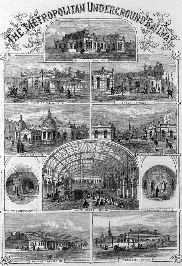 Statiile Metropolitan Underground Railway din Londra, Foto: en.wikipedia.org