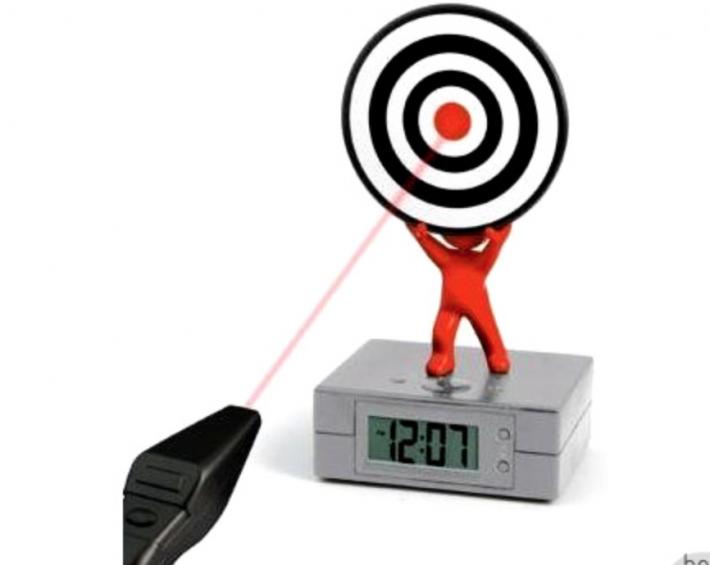 Ceasul desteptator cu alarma Laser Target, Foto: karandedhiampyear2.wordpress.com