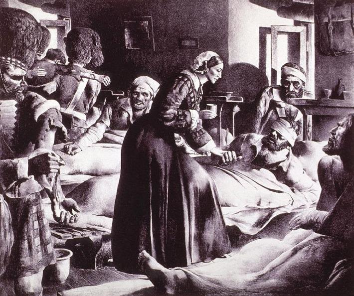 Florence Nightingale si pacientii din spital, Foto: blogdeirissanseg.blogspot.com
