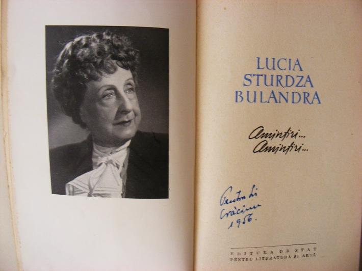 Lucia Sturdza Bulandra, Foto: carti-esentiale.blogspot.com