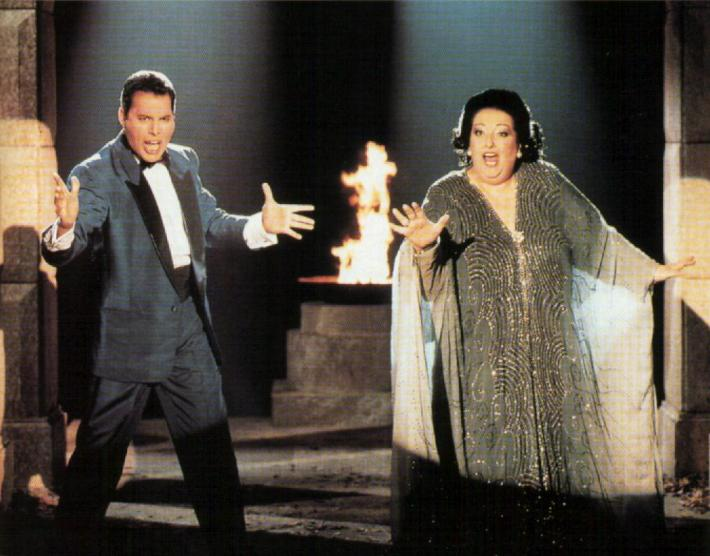 Montserrat Caballe si Freddie Mercury, Foto: thefaustorocksyeah.wordpress.com