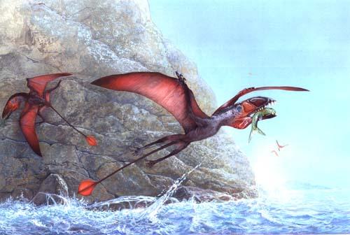 Dimorphodon, Primul dinozaur zburator, Foto: dinosaurss.blog.cz