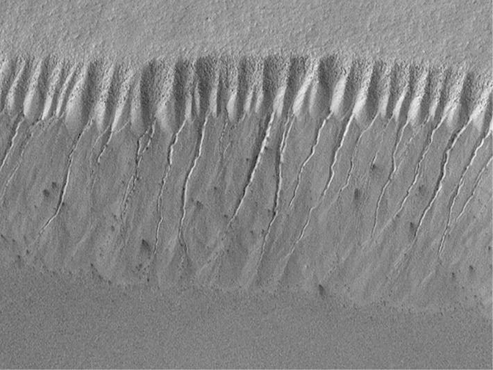 Relief martian modelat de apa, Foto: commons.wikimedia.org