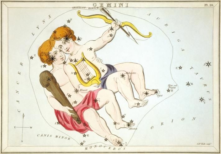 Simbolul constelatiei Gemini, Foto: en.wikipedia.org