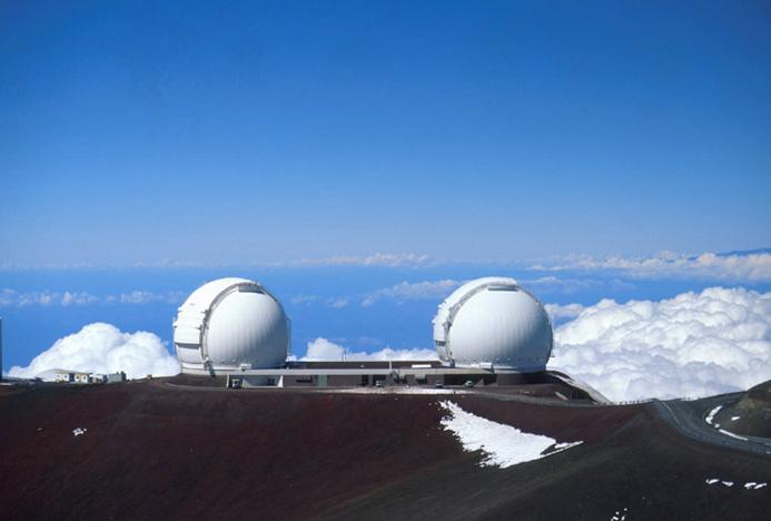 Telescoapele de pe vulcanul Mauna Ke, Foto: en.wikipedia.org