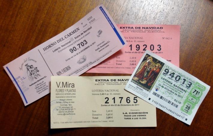 Bilete de loterie din Spania, Foto: nothemingwaysspain.blogspot.com