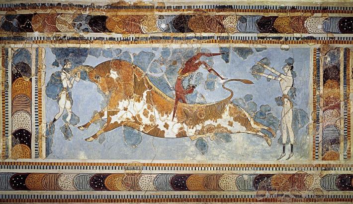 Taur din Palatul lui Minos, Foto: kmjantz.wordpress.com