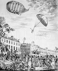 Primul salt cu parasuta (secolul al XVIII-lea)