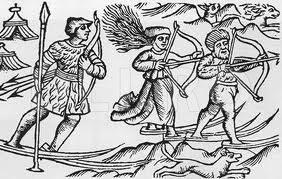 Desene cu schiori din Evul Mediu