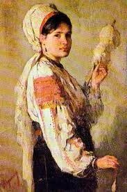 Nicolae Grigorescu - Fata care toarce