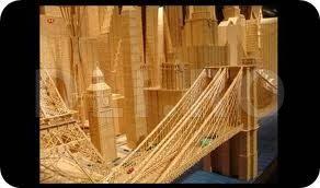 Podul din Brooklyn (din scobitori)