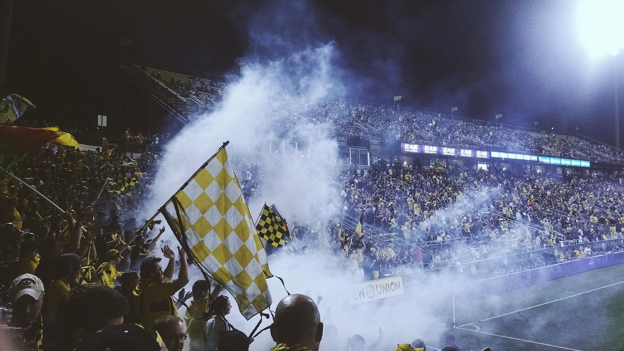 Jocul de fotbal suporteri, atmosfera