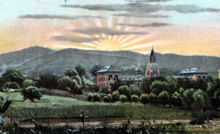 Mănastirea Curtea de Arges într-o reprezentare din anul 1907 Sursa: wikipedia.org