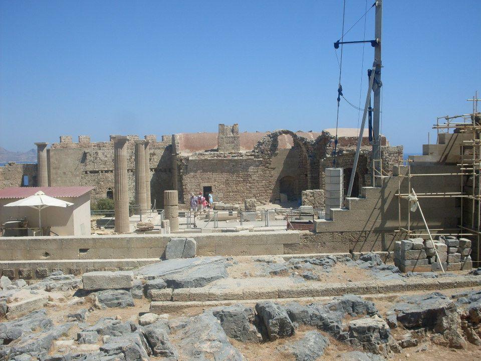 Acropolele din Lindos, Insula Rodos, Grecia