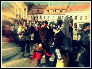 Cavalerii Cetăţilor Bârsei în paradă